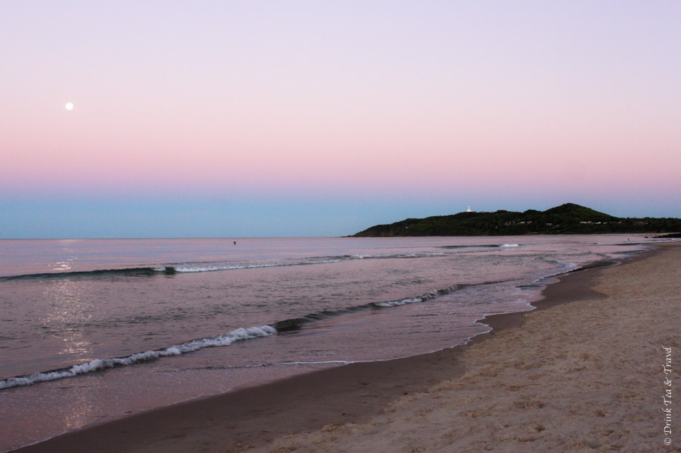 australia travel tips: Sunset in Byron Bay. With sights like these, how could you not fall in love with Australia