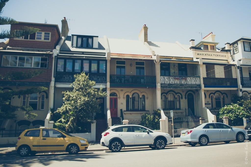 Australia travel tips: Cute houses in Newcastle. Australia