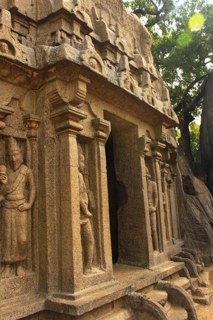 Rock cut ancient Indian art in the Mahabalipuram