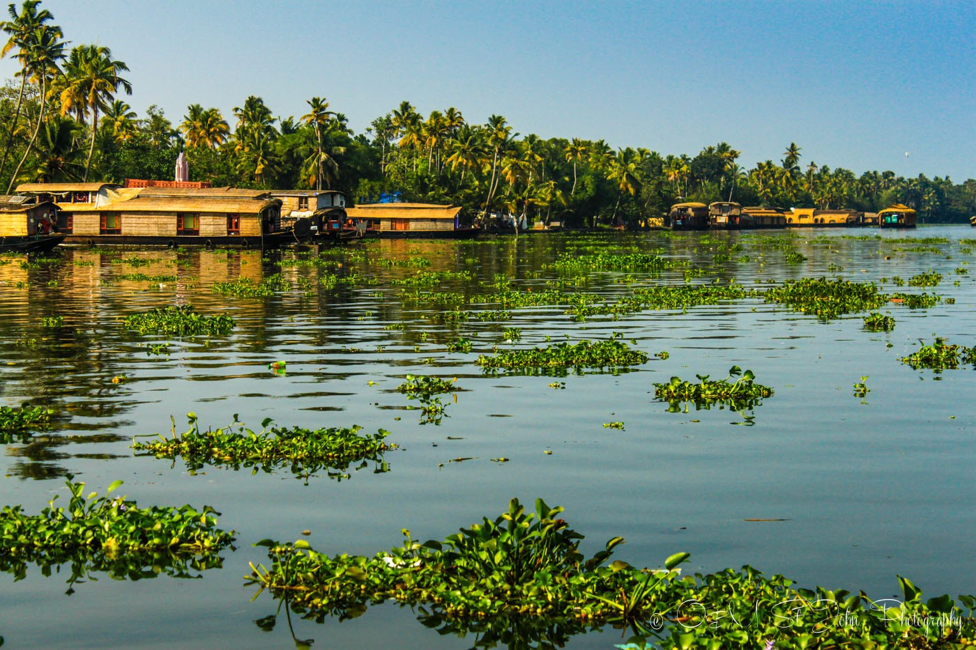 sailing through kerala backwaters on a houseboat