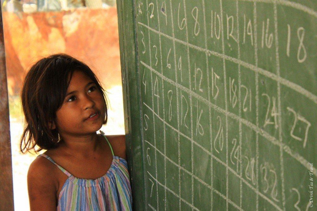 Student learning math in Liloan, Cebu, Philippines