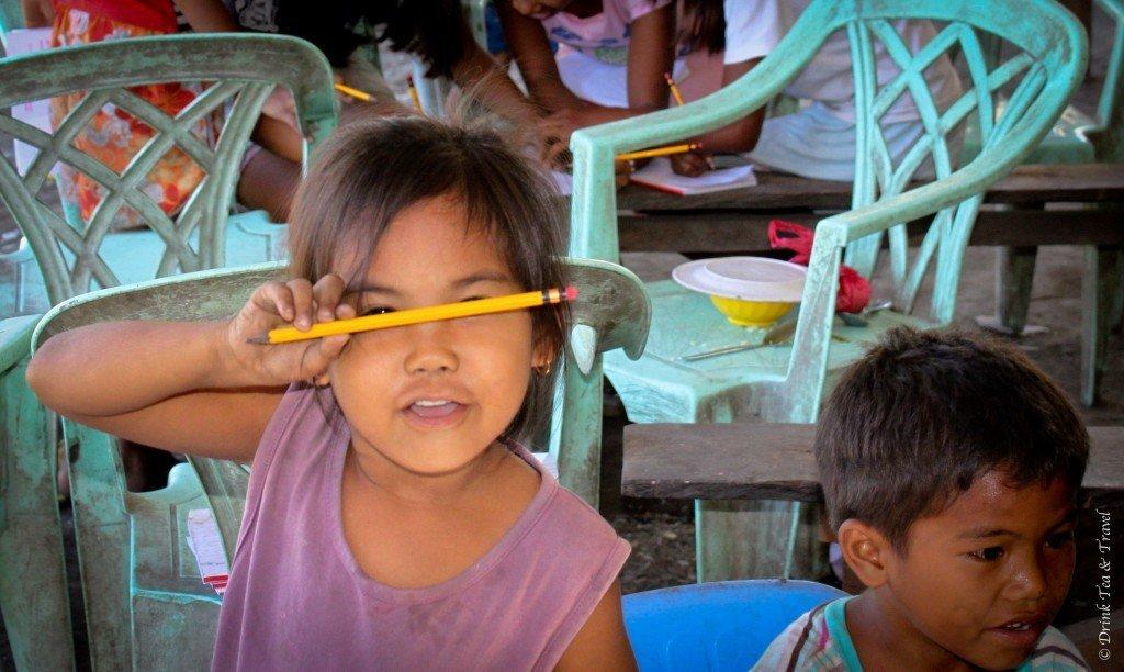 Student at school in Liloan, Cebu, Philippines