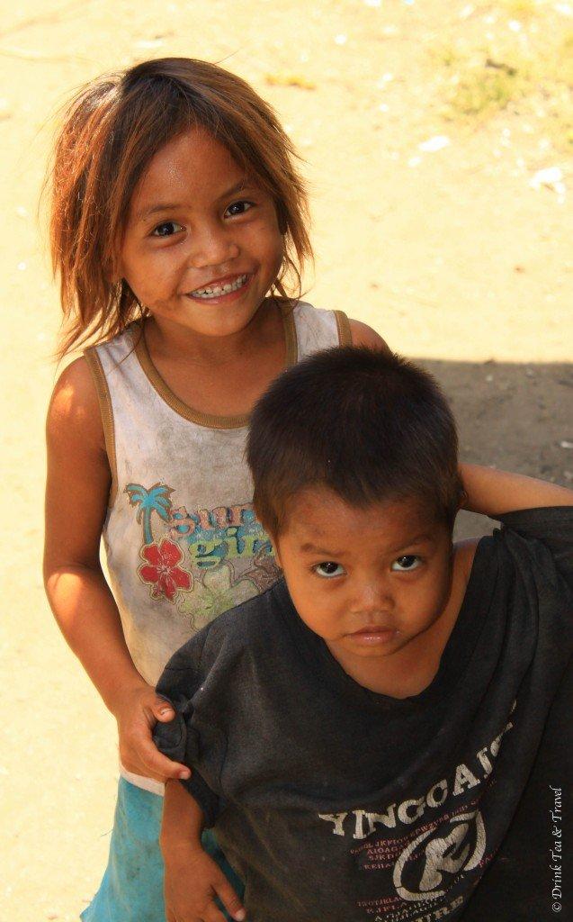 Students at a dump site school in Liloan, Cebu, Philippines