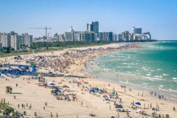 Busy day in Miami Beach, Florida. USA